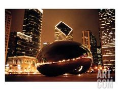 The Bean At Night 2 Photographic Print by Renette Coachman at Art.com