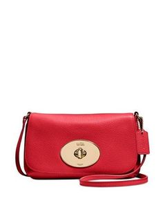 Coach Liv Turnlock Crossbody In Pebble Leather
