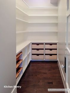 To make the pantry more organized you need proper kitchen pantry shelving. There is a lot of pantry shelving design ideas. Kitchen Pantry Design, New Kitchen, Kitchen Storage, Kitchen Rustic, Kitchen Ideas, Space Kitchen, Kitchen Pantries, Kitchen Decor, Kitchen Shelves