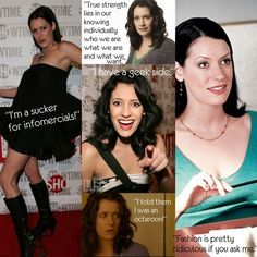 Talk about being comfortable in your own skin... Paget Brewster rocks