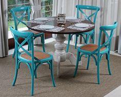 cadeira azul turquesa para varanda - Pesquisa Google
