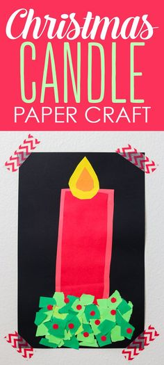 Christmas candle paper craft - cute Christmas activity for kids from Kinder Craze and Astrobrights!