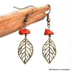 Bohemian earrings red jasper jewelry dangle by DSNatureetCreation