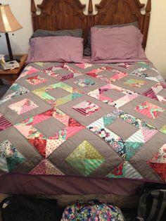 My Tula pink Elizabeth quilt!