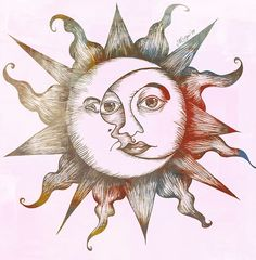 65 free sun tattoo designs + the meaning of sun tattoos. Designs include: tribal suns, sun and moon tattoos, Godsmack sun tattoo, . Sun Tattoo Tribal, Moon Sun Tattoo, Sun Tattoos, Stars And Moon, Sol Tribal, Tattoo Sonne, Sun Tattoo Designs, Wall Decal Sticker, Tattoo Drawings