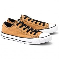 Chuck Taylor All Star OX - Brązowe Canvasowe Trampki Męskie - Ox, Chuck Taylor Sneakers, All Star, Shoes, Shopping, Fashion, Moda, Zapatos, Shoes Outlet