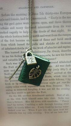 $18.84 Miniature Book Necklace Mini Book Jewellery by TheQueenBeeShop