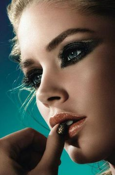 """#Dutch #model #DoutzenKroes ♥ in a new campaign for L'Oreal's """"L'Or Sunset"""" Collection, created especially for the 2013 Cannes Film Festival"""