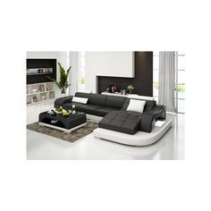 Sallustiano Italian Leather Sectional via Polyvore featuring home, furniture, sofas, italian leather couches, italian leather sectional, italian leather sofa and italian leather furniture