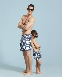 matching father and son swimming trunks! How cute!!!!!!!!!!!!!