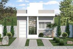 Plano de casa popular con 3 dormitorios