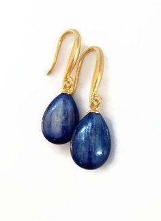 Navy Blue Earrings Deep Blue Stone Earrings