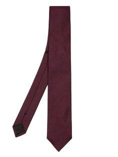 Dolce & Gabbana Dot and square-jacquard silk tie