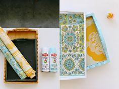 transform old wooden trays ♥