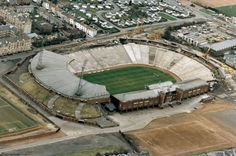 An aerial view of our national stadium, Hampden Park, in 1993 Hampden Park, School Football, Football Stuff, National Stadium, Rangers Fc, Celtic Fc, Soccer Skills, Glasgow Scotland, Football Pictures