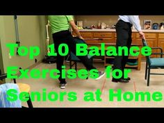Fall prevention exercises reduce senior falls by improving strength & balance. This free video teaches 10 simple & effective at-home exercises for seniors. Balance Exercises, Stretching Exercises, Stability Exercises, Band Exercises, Bones And Muscles, Senior Fitness, Zumba Fitness, Mens Fitness, Health Fitness