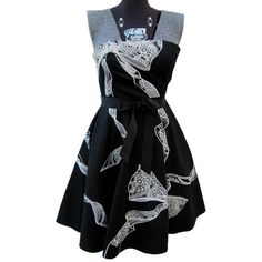 Pre-owned White House | Black Market New Feel Embroidered Faille Sz 2... ($110) ❤ liked on Polyvore featuring dresses, spaghetti strap dress, flared skirt, white house black market bustier, flare dress and shift dress