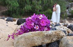 Kauai Wedding flowers - Hawaii bridal bouquets and tropical flower leis from Mr. Flowers Kauai