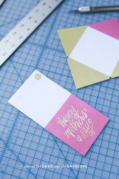 Mother's Day printable card and envelope | cutting | Pinegate Road