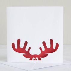 Reindeer Papercut Christmas Card