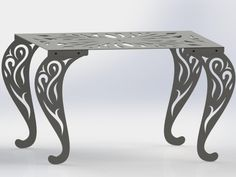 Rectangle Table with Traditional Style Scroll Legs-dxf files cut ready – DXFforCNC.com