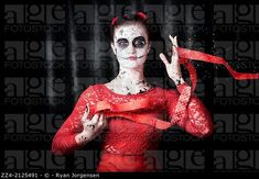 Scary dead geisha doll with peeling and weathered face making a play on magic when releasing the life force energy of a souls spirit into the afterlif... © Ryan Jorgensen / age fotostock