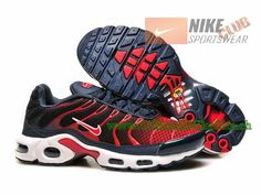 Nike Air Max Tn Requin/Tuned 2015 Chaussures Nike Officiel Pour Homme Rouge/Noir