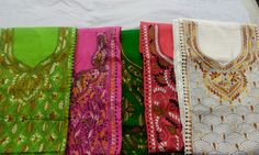 Colors of beautiful Kantha embroidery from kolkata.. India.. awesome wear in summers.. all cotton..
