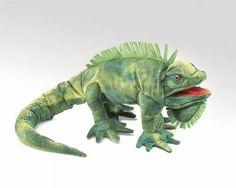Folkmanis Iguana Hand Puppet - 2258