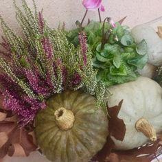 Composizione fiori zucche - floral pumpkin autumn composition decoration