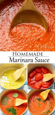 This easy Homemade Marinara Sauce is perfect for pasta, meatballs, pizza, and as a dipping sauce! Make it with canned or fresh garden tomatoes and a few other simple ingredients. Fresh Tomato Marinara Sauce, Pasta Sauce With Fresh Tomatoes, Easy Tomato Sauce, Homemade Tomato Sauce, Homemade Seasonings, Fresh Tomato Pizza Sauce Recipe, Marinara Sauce For Pizza, Marinara Sauce From Scratch, Recipes