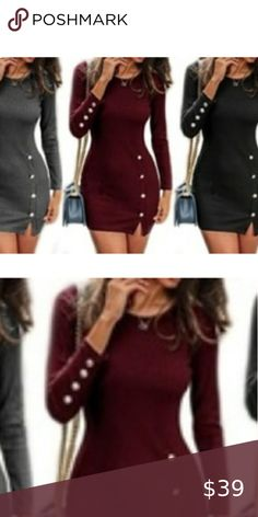 Nike Winter Jackets, Deep Red Color, Plus Fashion, Fashion Tips, Fashion Trends, Dress Red, Leo, Check, Fashion Design