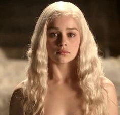 I wanted Khaleesi's hair color. The ashy white blonde. still working on the toner part...she is beautiful.