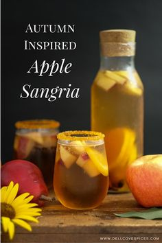 Autumn Apple Sangria - Fabulous Fall Drink Recipes for Adults and Kids | dellcovespices