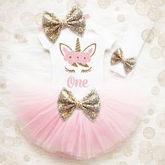 Unicorno 1  compleanno vestito ragazza  Vestito di