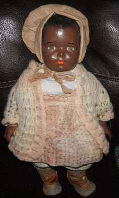 Early Horsman Black composition doll