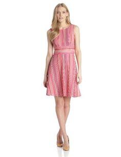Gabby Skye Women's Sleeveless Multi Stripe Dress, Pink/Multi, 14 Gabby Skye,http://www.amazon.com/dp/B00GBTGOIG/ref=cm_sw_r_pi_dp_gfittb1031YKDR8W $31.25