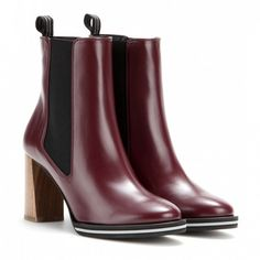 Stella McCartney Iselin Ankle Boots in Oxblood