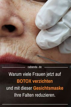 Diese Gesichtsmaske wirkt besser als Botox. When old age leaves its mark on the face, women in particular think about making your wrinkles disappear with Botox. Here I introduce y Best Anti Aging, Anti Aging Cream, Anti Aging Skin Care, Beauty Hacks Every Girl Should Know, Base Natural, Botox Alternative, The Face, Anti Ride, Les Rides