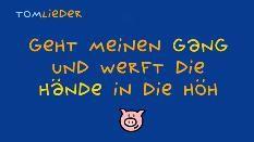 Zeichnung: Müllers Schwein und Liedtitel auf blauem Hintergrund (Bild: SWR)