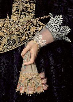 darksilenceinsuburbia:  Nicolaes Eliaszoon Pickenoy:Portrait of a Young Woman (detail), 1632