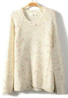 ++ Neck Loose Cotton Sweater