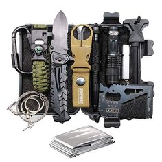 Cool & Unique Fathers Day Birthday Gifts for Him Men Husband Dad Boyfriend, Fun Gadget Mens Gifts Ideas, Survival Gear Kits, EDC Emergency Tools and Everyday Carry Gear, Official Survival Kit Birthday Gift For Him, Unique Birthday Gifts, Unique Gifts, Men Birthday, Best Gifts For Men, Gifts For Dad, Fathers Day Gifts, Guy Gifts, Survival Tools