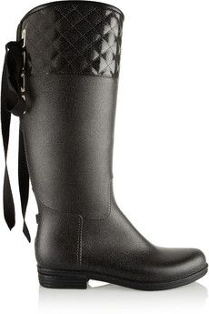 Däv Victoria quilted PVC boots | THE OUTNET