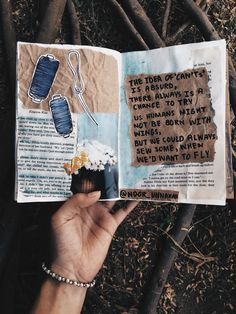 the idea of 'CAN'Ts' is absurd, there always is a chance to try, us humans might not be born with wings, but we could always sew some when we would want to fly // journaling, flatlay, crafts, scrapbooking, diy, notebook, tumblr aesthetics, photography, instagram ideas inspiration, words, passion, quotes, illustration, lifestyle creative bloggers,poem by Noor Unnahar //