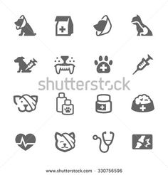 Buy Simple Pet Vet Icons by davooda on GraphicRiver. Simple Set of Pet Vet Related Vector Icons for Your Design.