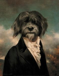 Interesting dog portrait by Thierry Poncelet. (Anthropomorphic)