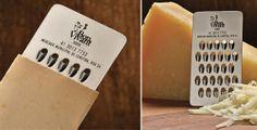 kaasrasp als visitekaartje voor een soort kaas!