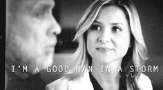 """I'm a good man in a storm"" Arizona Robbins"