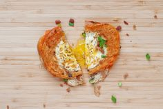 Egg In A Hole Breakfast Grilled Cheese   bsinthekitchen.com #breakfast #grilledcheese #bsinthekitchen